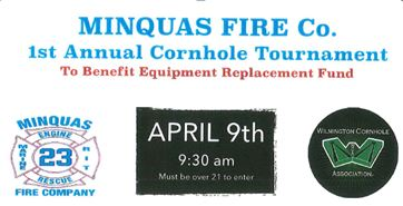 Minquas Fire Company's 1st Annual Cornhole Tournament